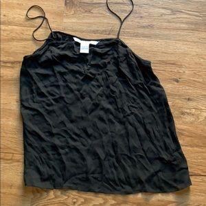 Diane Von Furstenberg silk black tank top